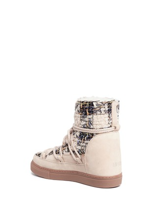 Detail View - Click To Enlarge - INUIKII - Leather panel sequin tweed sneaker boots