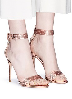 Gianvito Rossi 'Elysium' strass embellished satin sandals
