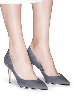 Figure View - Click To Enlarge - Gianvito Rossi - 'Gianvito' suede pumps