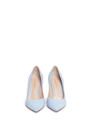 Front View - Click To Enlarge - Gianvito Rossi - 'Gianvito' suede pumps