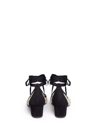 Back View - Click To Enlarge - TABITHA SIMMONS - 'Minnie Daisy' crochet ballerina pumps