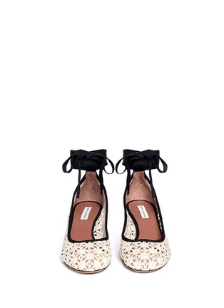 Front View - Click To Enlarge - TABITHA SIMMONS - 'Minnie Daisy' crochet ballerina pumps