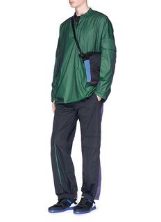 Cottweiler Oversized pocket stretch windbreaker top