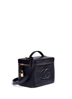 Vintage ChanelCaviar leather square vanity bag