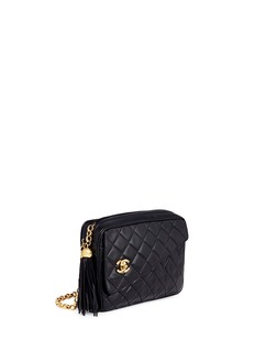 Vintage Chanel Tassel charm quilted leather crossbody bag