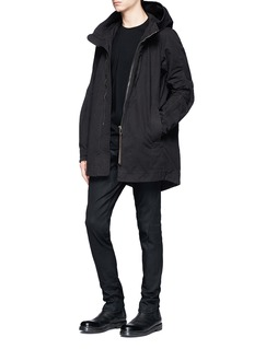 DEVOA Cotton ripstop hooded coat
