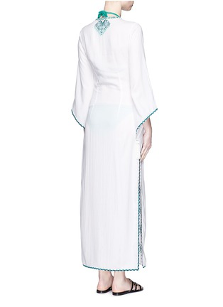 Back View - Click To Enlarge - Talitha - 'Talitha' embroidery tassel lace-up maxi dress