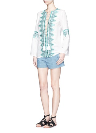 Figure View - Click To Enlarge - Talitha - 'Noor' embroidery lace-up tunic