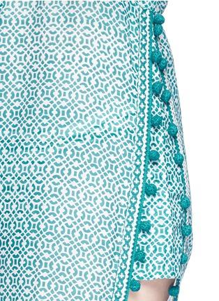 细节 - 点击放大 - TALITHA - Moroccan木刻版画印花罩衫