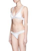 'Valentine' hand crochet triangle bikini top
