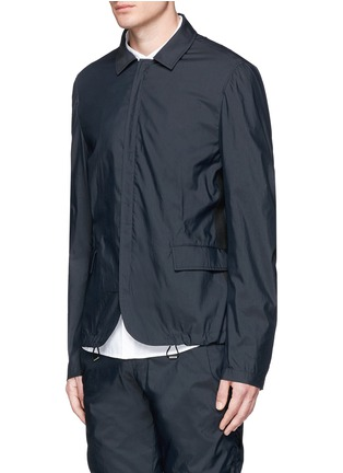 Front View - Click To Enlarge - Wooyoungmi - Grosgrain trim cotton blend coach jacket