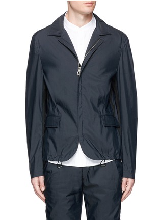 Main View - Click To Enlarge - Wooyoungmi - Grosgrain trim cotton blend coach jacket