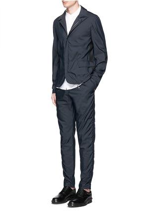Figure View - Click To Enlarge - Wooyoungmi - Grosgrain trim cotton blend coach jacket