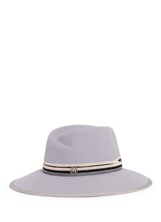 Maison Michel 'Virginie' beaded ribbon rabbit furfelt fedora hat