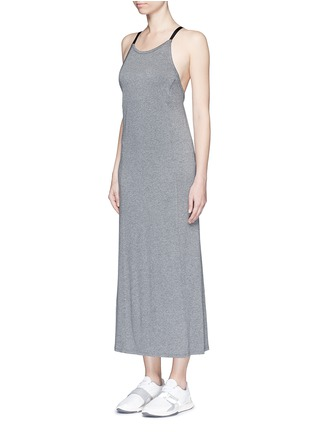 Front View - Click To Enlarge - Live The Process - 'Linear' strap back maxi dress