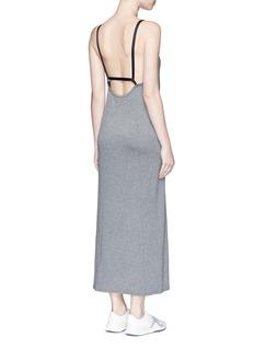 LIVE THE PROCESS'Linear' strap back maxi dress