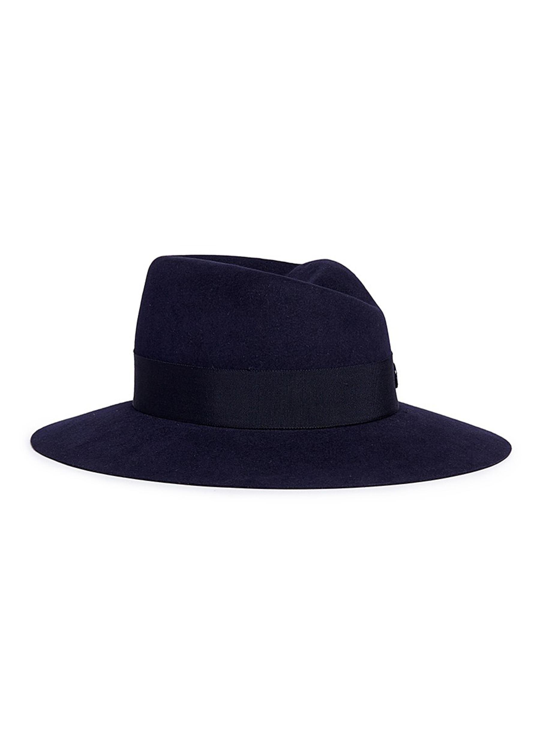 maison michel female virginie timeless rabbit furfelt fedora hat
