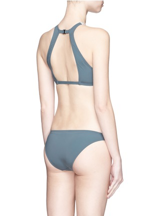 Back View - Click To Enlarge - Flagpole Swim - 'Shay' cutout colourblock cropped tankini set