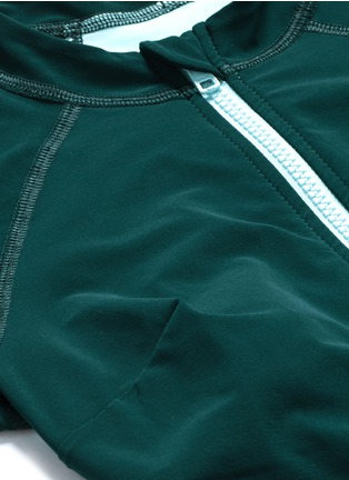 Detail View - Click To Enlarge - Flagpole Swim - 'Kelly' cutout colourblock long sleeve swimsuit