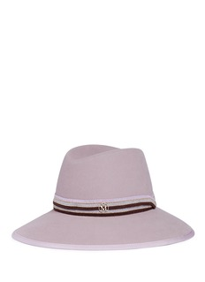 Maison Michel 'Kate' beaded knit ribbon furfelt fedora hat