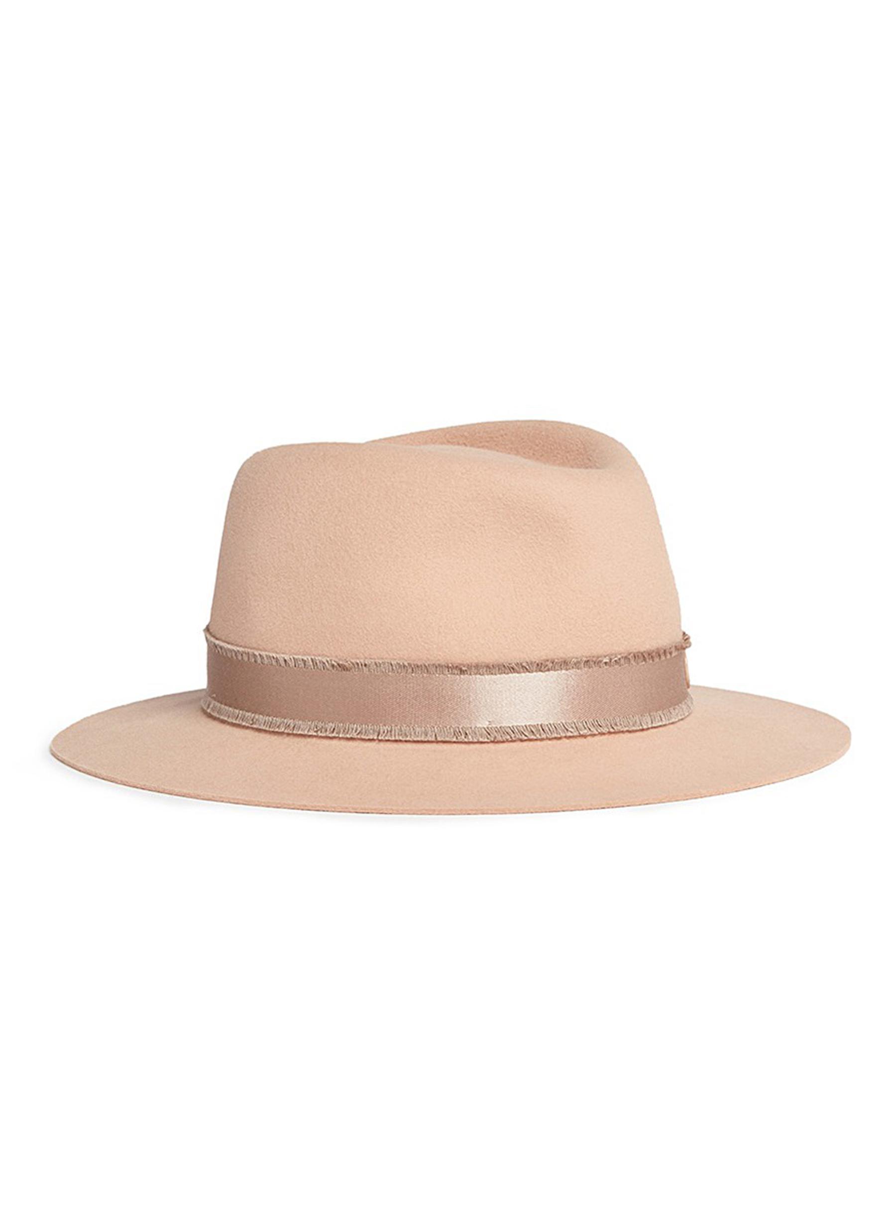 maison michel female andre rabbit furfelt trilby hat