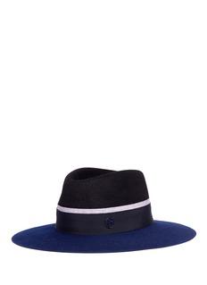 Maison Michel 'Charles' colourblock rabbit furfelt fedora hat