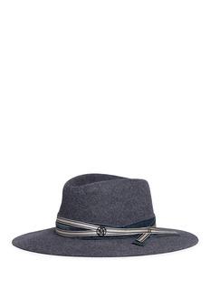 Maison Michel'Charles' rabbit furfelt fedora hat