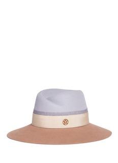 Maison Michel 'Virginie' colourblock rabbit furfelt fedora hat