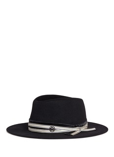 Maison Michel'Thandee' rabbit furfelt fedora hat