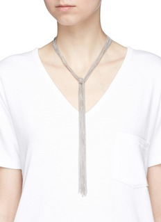 Eddie Borgo Ball chain scarf necklace