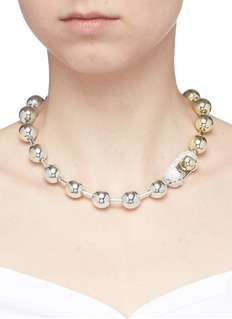 Eddie Borgo Cubic zirconia pavé ball chain necklace