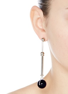 Eddie Borgo 'Colonnade' onyx sphere sliding bar drop earrings