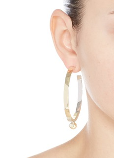 Eddie Borgo Layered plate hoop earrings