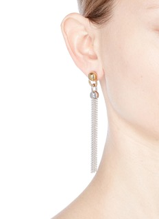 Eddie Borgo Ball chain tassel drop earrings