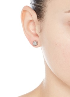 Eddie Borgo Cubic zirconia dome stud earrings