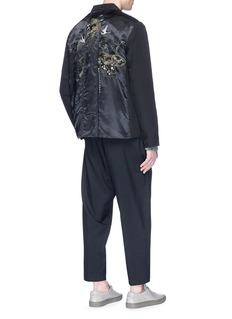 By Walid 'Hussein' floral embroidered silk soft blazer