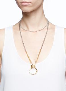 Charlotte Chesnais 'Round Trip' loop pendant necklace