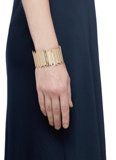 Michelle Campbell 'Raft' 14k yellow gold plated stripe cuff