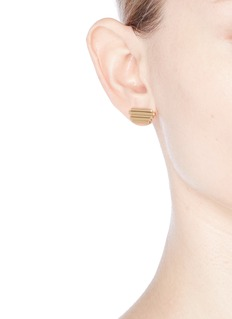 Michelle Campbell 'Raft' 14k gold plated stripe earrings