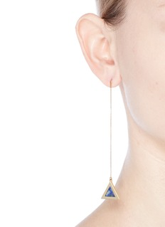 Michelle Campbell 'Tri' marble stone 14k gold plated triangle drop earrings