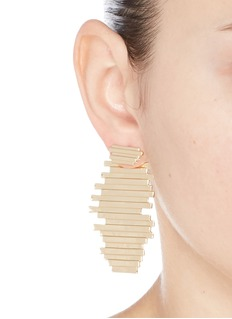 Michelle Campbell 'Raft' 14k gold plated stripe statement earrings
