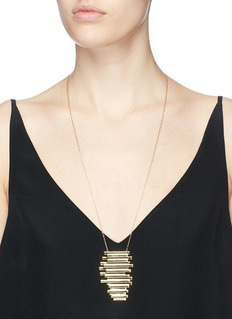 Michelle Campbell 'Raft' large 14k gold plated stripe pendant necklace