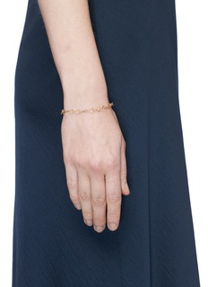 Michelle Campbell 'Tri' 14k gold plated triangle bracelet