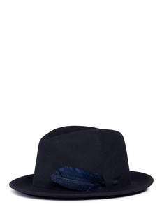 Sensi Studio Feather detail wool felt hat