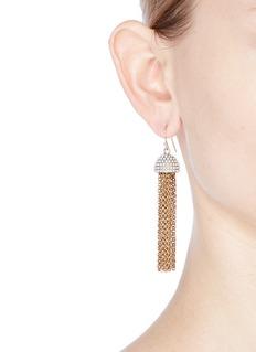 Lulu Frost'Ursula' faux pearl chain tassel earrings