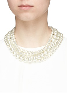 Lulu Frost 'Lustre' tiered glass pearl necklace
