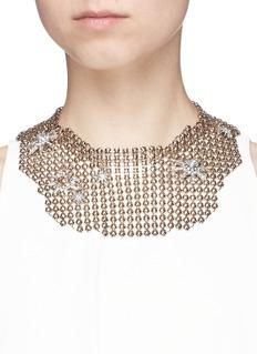 Lulu Frost'Radiant' glass crystal star mesh bib choker