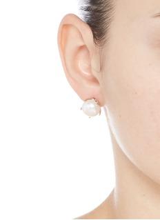 Lulu Frost'Lustre' freshwater pearl stud earrings