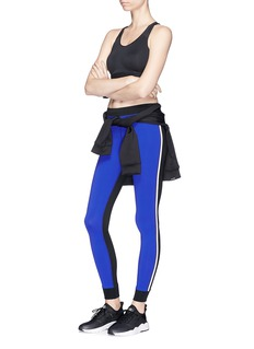 Monreal London 'Athlete' stripe colourblock performance leggings