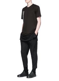 ZIGGY CHEN 西方艺术布饰拼接纯棉T恤